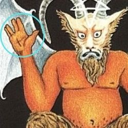 悪魔の右手のマーク