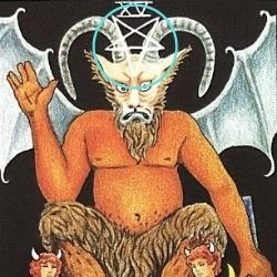 悪魔の頭に逆五芒星