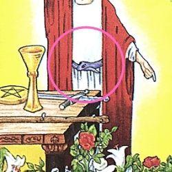 1魔術師 ザ・マジシャン 腰に巻いた蛇のベルト タロット