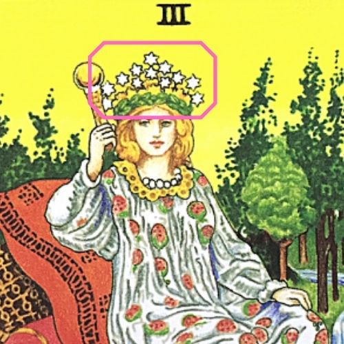 3女帝 エンプレス タロットカード 月桂樹の花輪 12の星が輝く冠