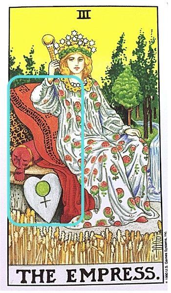3女帝エンプレス タロットカード クッションと豪華な椅子