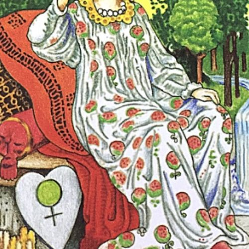 タロットカード 女帝 エンプレス ザクロのマタニティワンピース ローブ