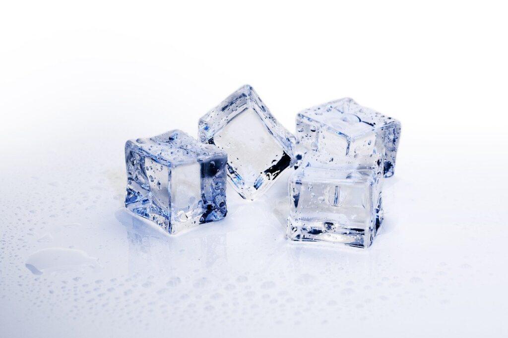 氷、冷たい、ブロック